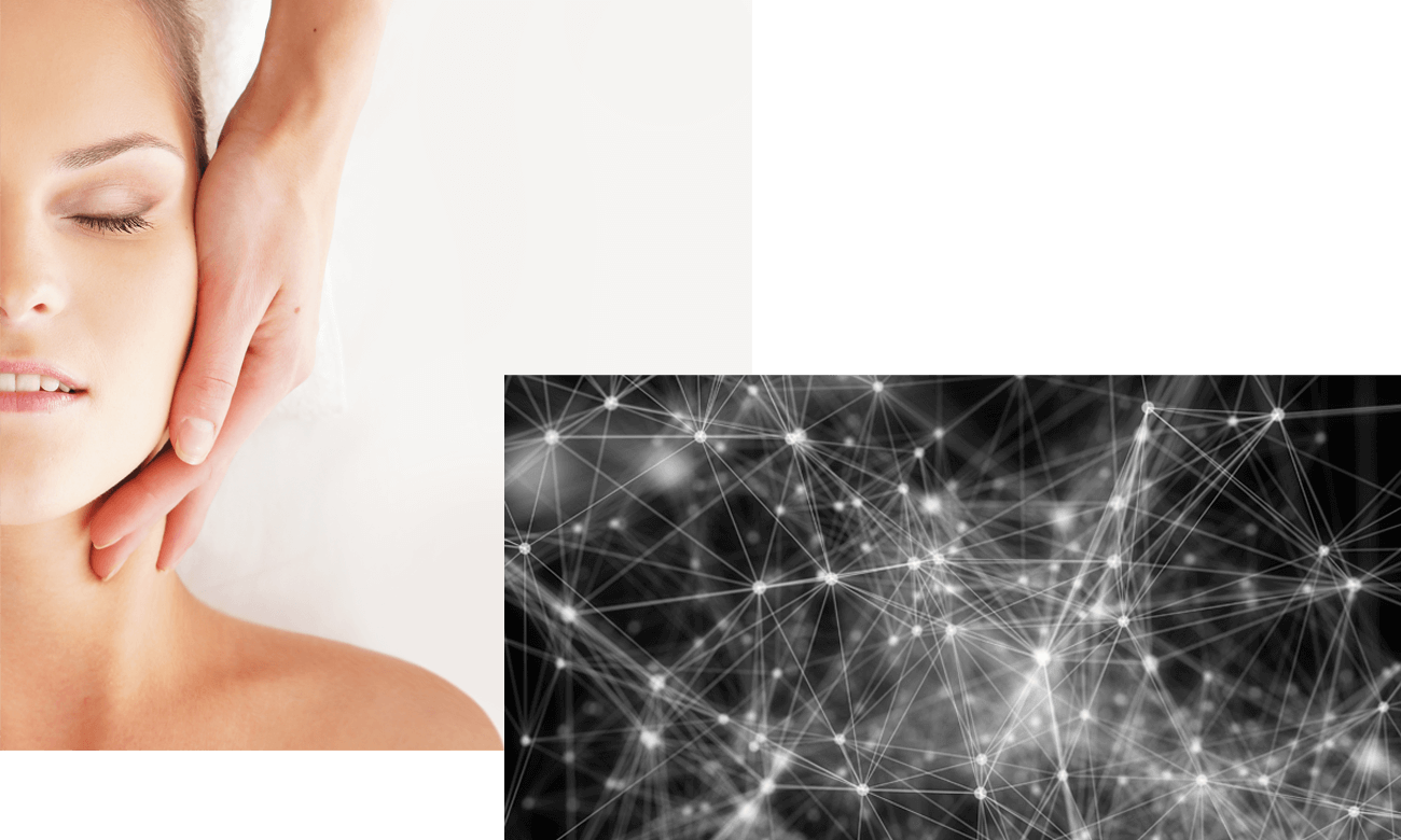 Frau erhält ASMR Massage