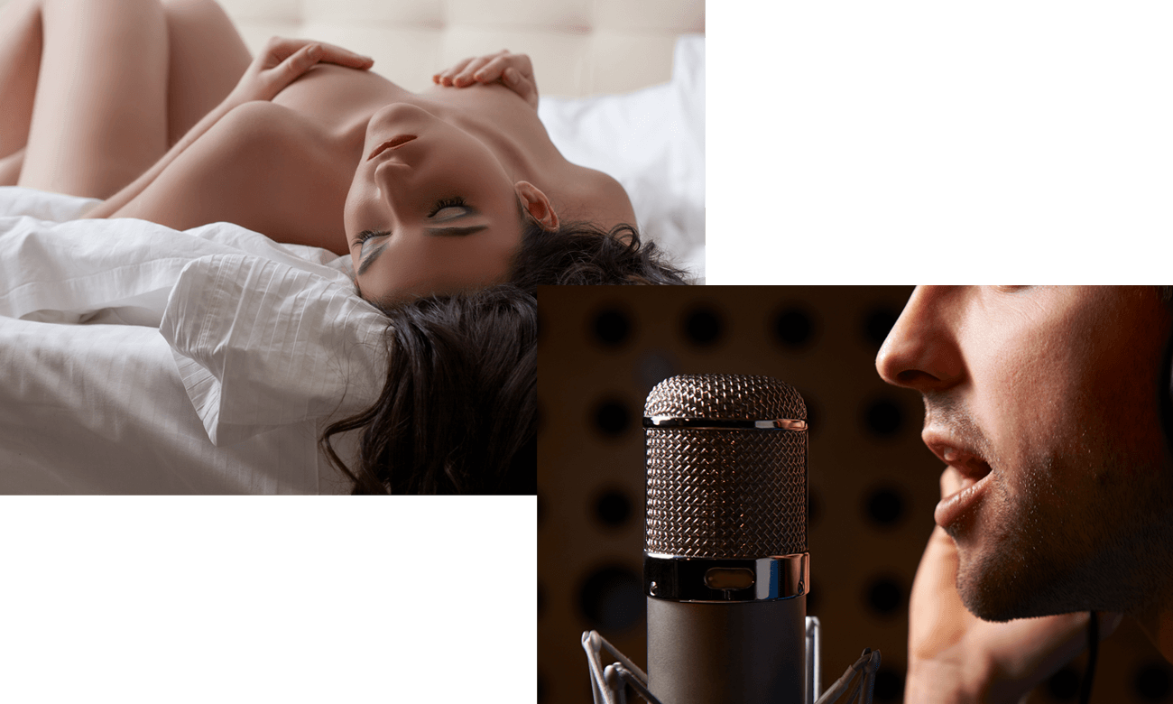 Frau hört erotische ASMR Hypnose