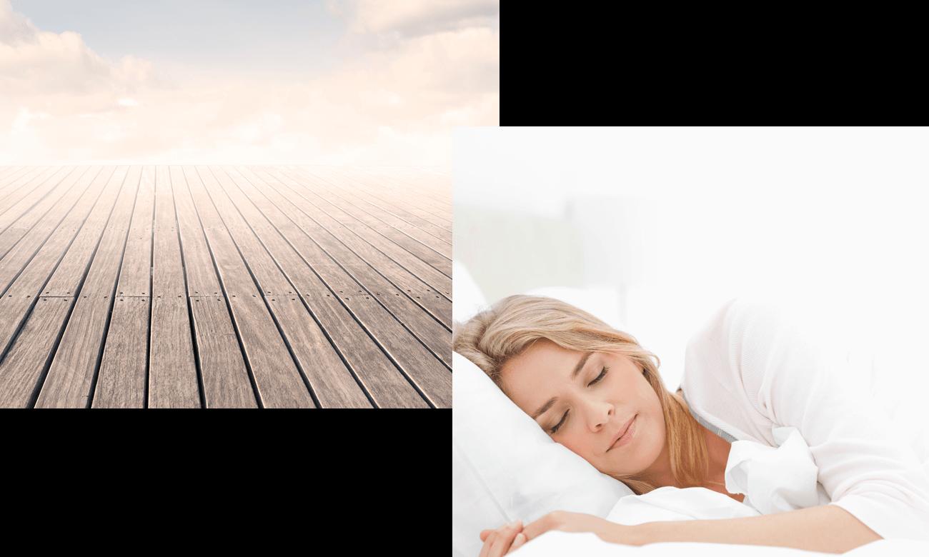 Frau kann besser schlafen durch Entspannungstechniken